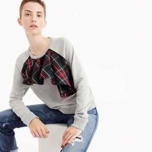 J. Crew Tartan Plaid Sweatshirt Medium